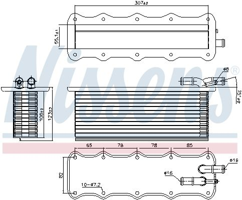 INTERCOOLER COMPRESOR NISSENS 96318