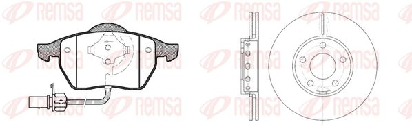 SET PLACUTE FRANA FRANA DISC REMSA 839000