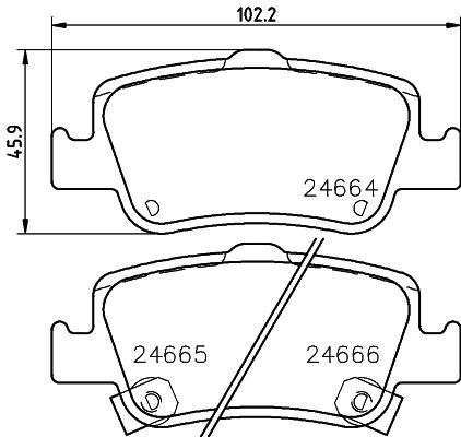 SET PLACUTE FRANA FRANA DISC HELLA 8DB 355 013-571