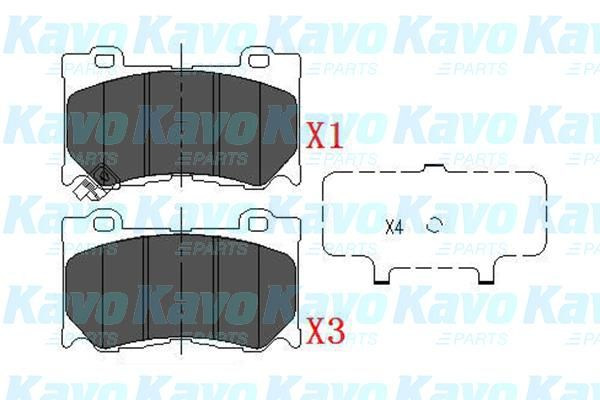 SET PLACUTE FRANA FRANA DISC KAVO PARTS KBP-6581
