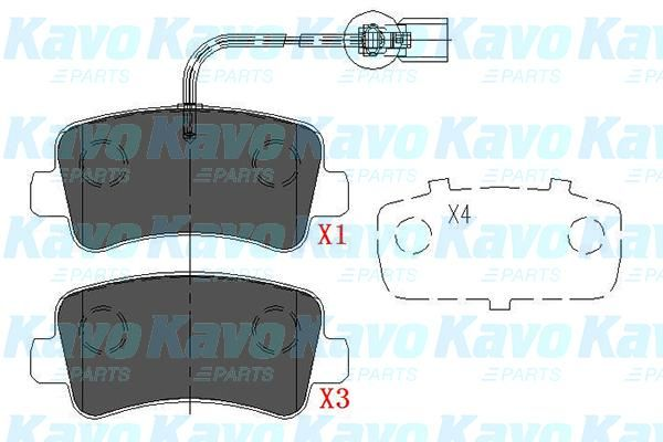SET PLACUTE FRANA FRANA DISC KAVO PARTS KBP-6590