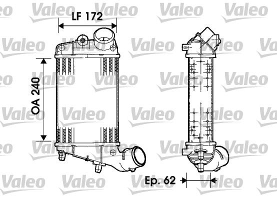 INTERCOOLER COMPRESOR VALEO 817862