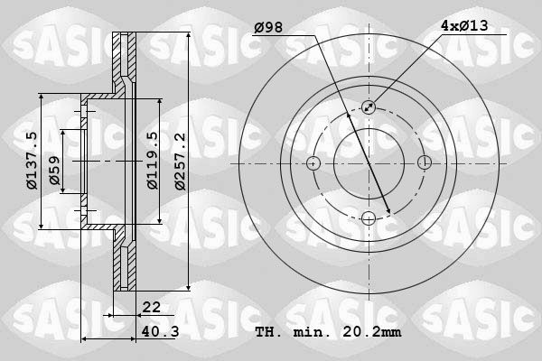 DISC FRANA SASIC 6106002