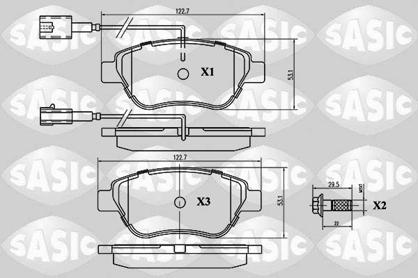 SET PLACUTE FRANA FRANA DISC SASIC 6210015