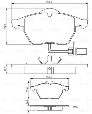SET PLACUTE FRANA FRANA DISC BOSCH 0986495232