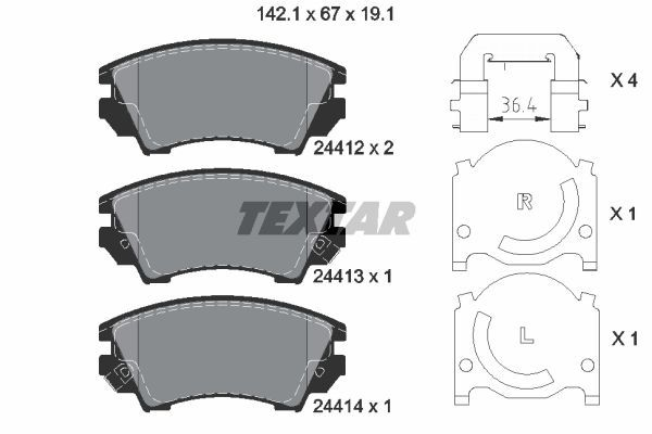 SET PLACUTE FRANA FRANA DISC TEXTAR 2441201