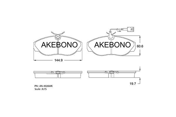 SET PLACUTE FRANA FRANA DISC AKEBONO AN-4026WK
