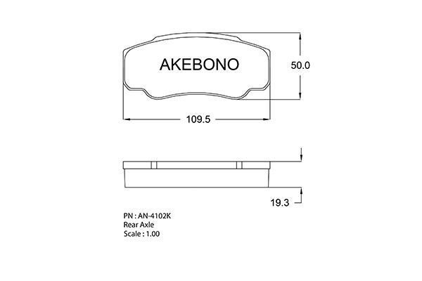 SET PLACUTE FRANA FRANA DISC AKEBONO AN-4102K