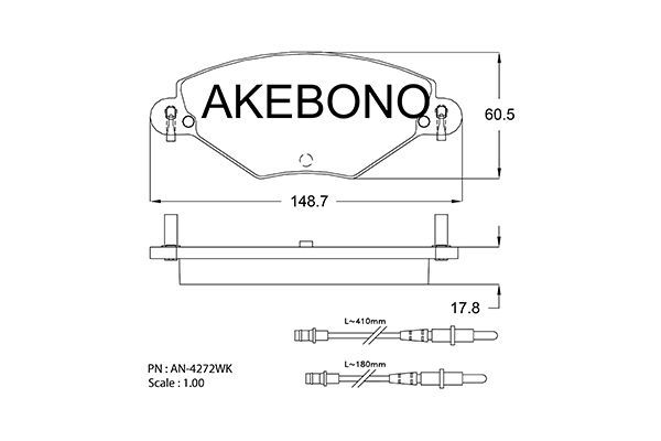SET PLACUTE FRANA FRANA DISC AKEBONO AN-4272WK