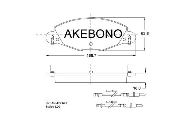 SET PLACUTE FRANA FRANA DISC AKEBONO AN-4273WK