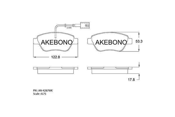 SET PLACUTE FRANA FRANA DISC AKEBONO AN-4287WK