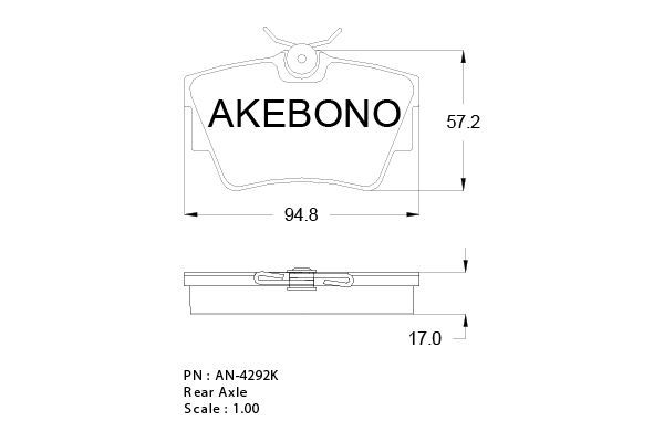 SET PLACUTE FRANA FRANA DISC AKEBONO AN-4292K
