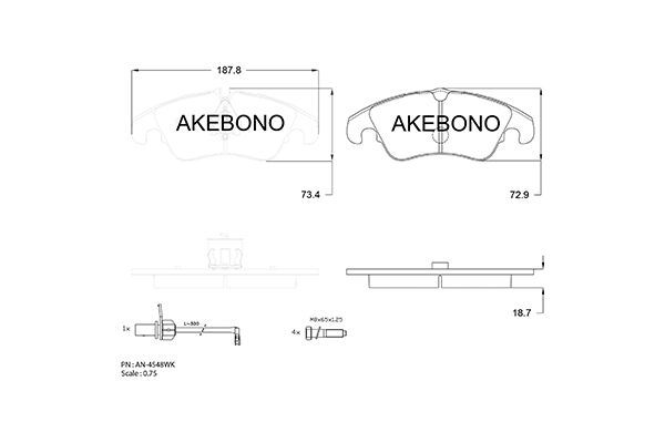SET PLACUTE FRANA FRANA DISC AKEBONO AN-4548WK