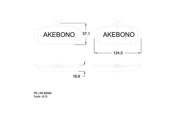 SET PLACUTE FRANA FRANA DISC AKEBONO AN-8006K