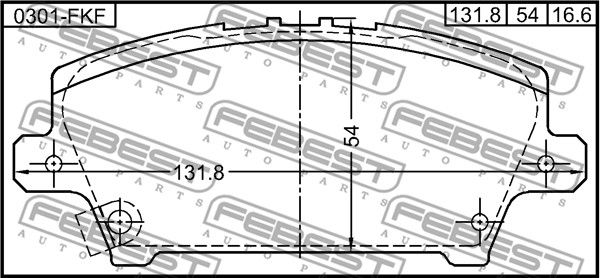 SET PLACUTE FRANA FRANA DISC FEBEST 0301-FKF