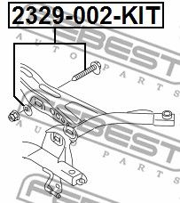 SURUB CORECTARE INCLINARE FEBEST 2329-002-KIT