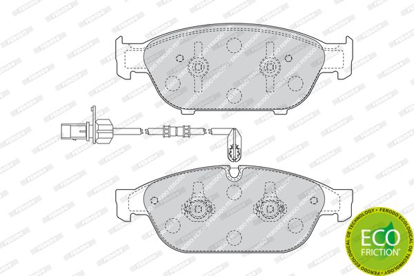 SET PLACUTE FRANA FRANA DISC FERODO FDB4397
