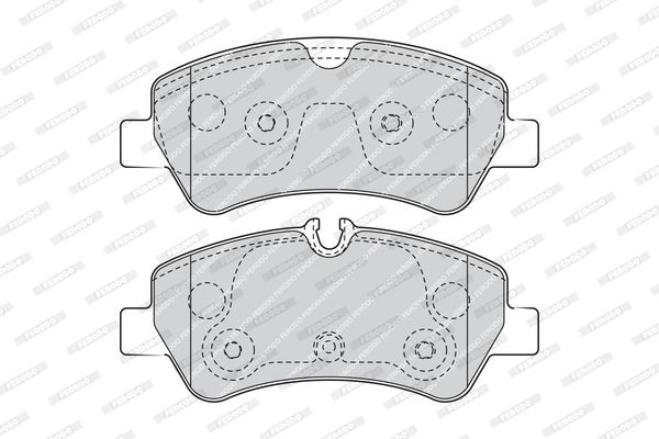 SET PLACUTE FRANA FRANA DISC FERODO FVR4398