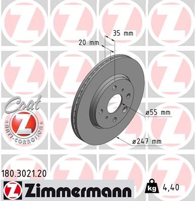 DISC FRANA ZIMMERMANN 180.3021.20