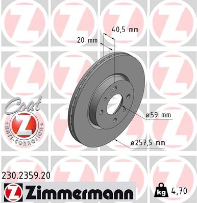 DISC FRANA ZIMMERMANN 230.2359.20