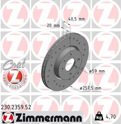 DISC FRANA ZIMMERMANN 230.2359.52