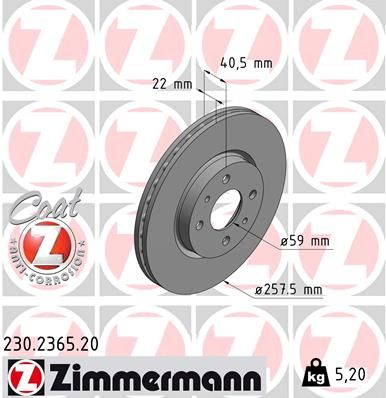 DISC FRANA ZIMMERMANN 230.2365.20