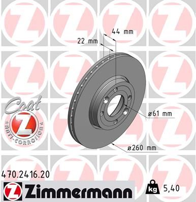 DISC FRANA ZIMMERMANN 470.2416.20