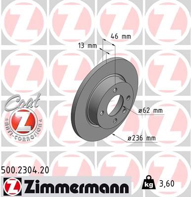 DISC FRANA ZIMMERMANN 500.2304.20