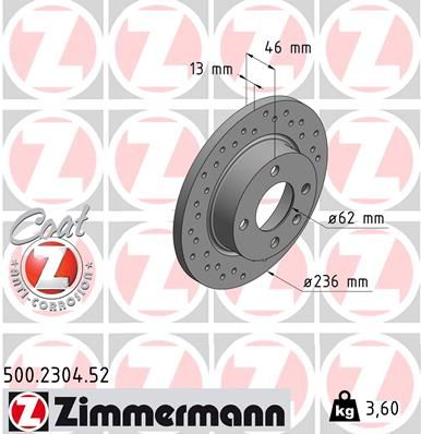 DISC FRANA ZIMMERMANN 500.2304.52