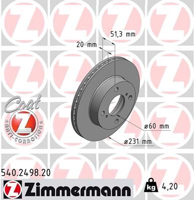 DISC FRANA ZIMMERMANN 540.2498.20