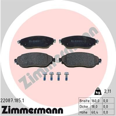 SET PLACUTE FRANA FRANA DISC ZIMMERMANN 22087.185.1