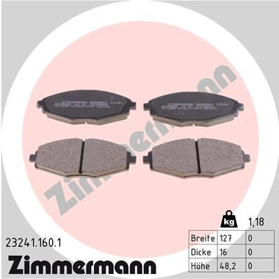 SET PLACUTE FRANA FRANA DISC ZIMMERMANN 23241.160.1