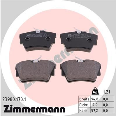 SET PLACUTE FRANA FRANA DISC ZIMMERMANN 23980.170.1