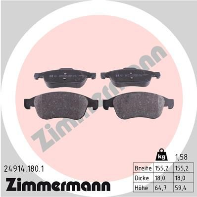 SET PLACUTE FRANA FRANA DISC ZIMMERMANN 24914.180.1