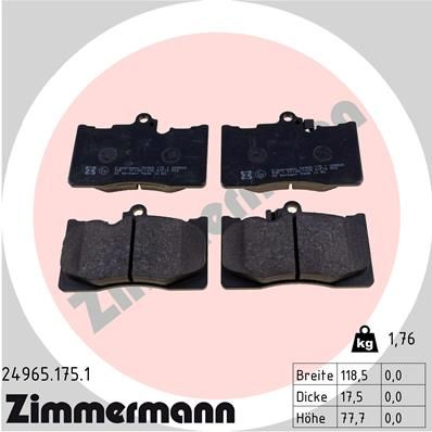 SET PLACUTE FRANA FRANA DISC ZIMMERMANN 24965.175.1
